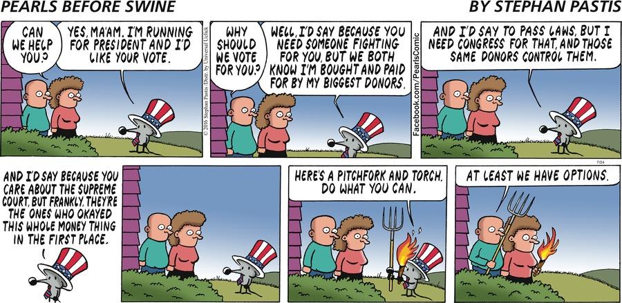 Pearls Before Swine Comic Strip for July 24, 2016