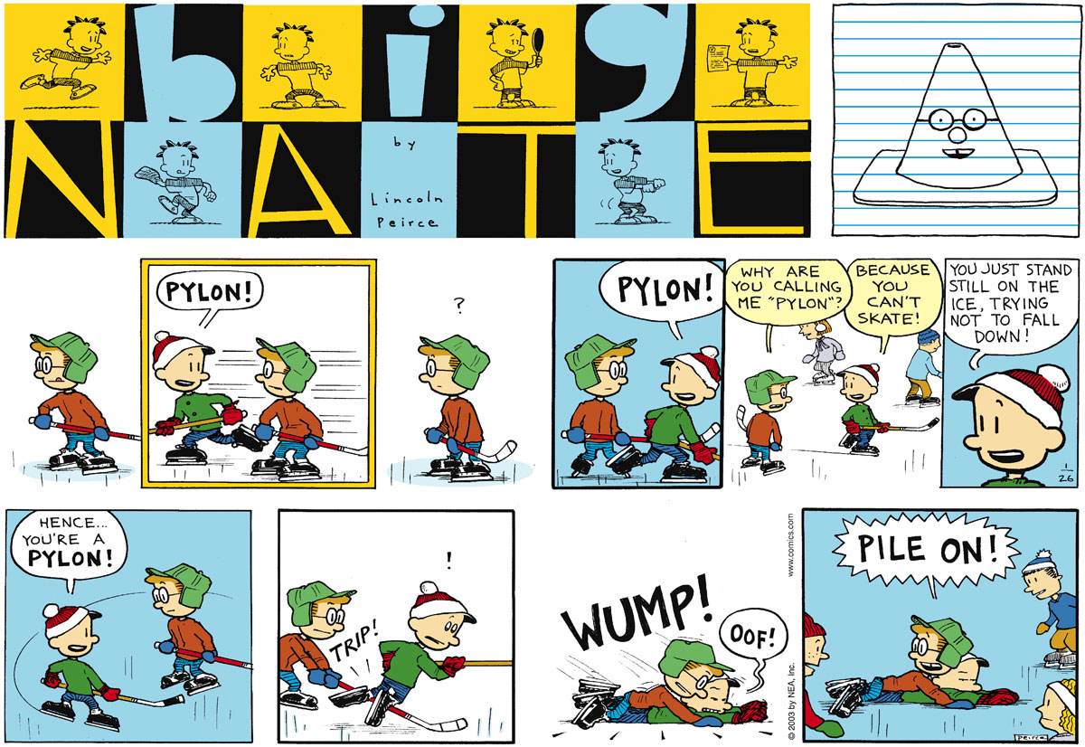 Big Nate Comic Strip for January 26, 2003