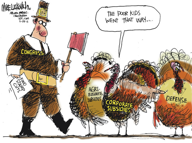 Mike Luckovich Comic Strip for November 28, 2013