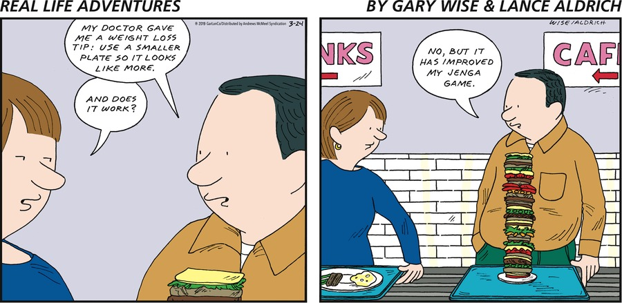 Real Life Adventures Comic Strip for March 24, 2019