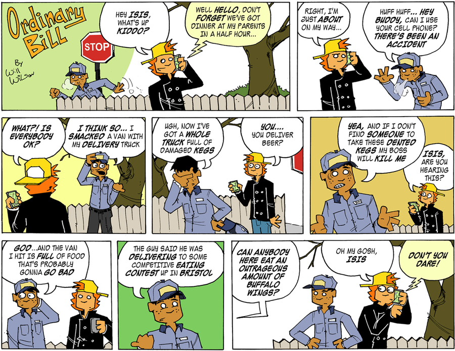 Ordinary Bill Comic Strip for February 26, 2012