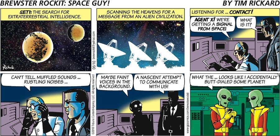 Brewster Rockit Comic Strip for June 10, 2018