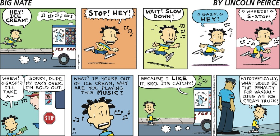 Big Nate Comic Strip for August 27, 2017