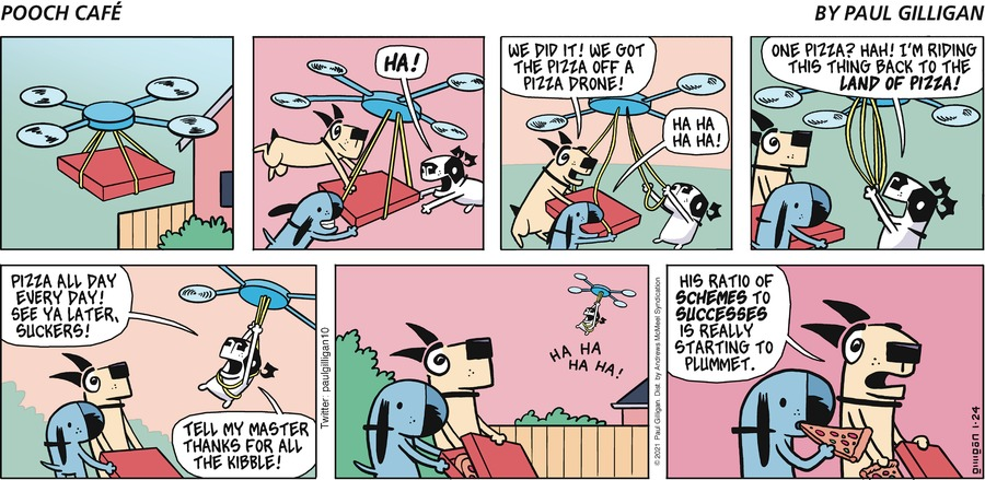 Pooch Cafe Comic Strip for January 24, 2021