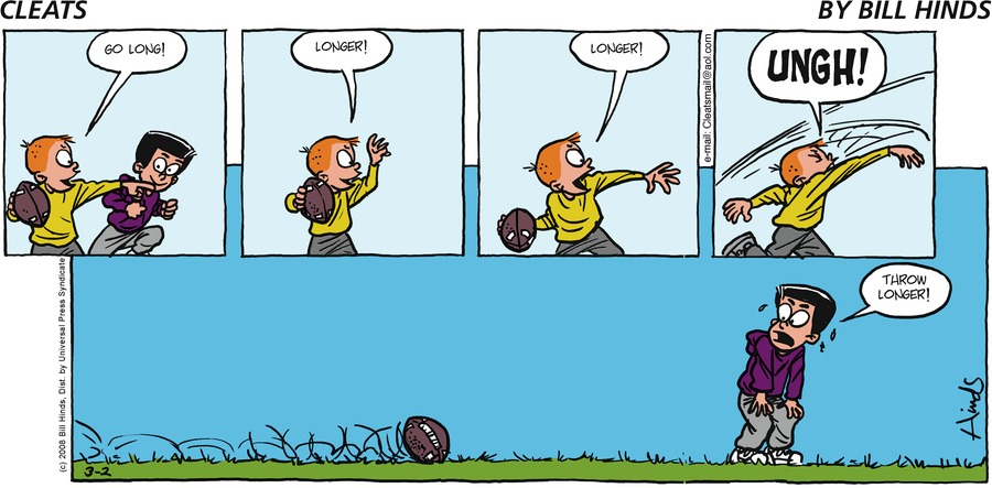 Cleats Comic Strip for March 02, 2008