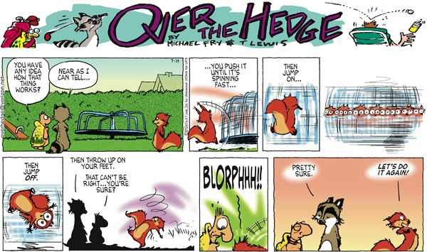 Collectible Print of over the hedge