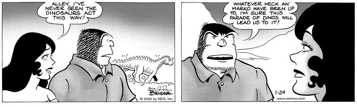 Alley Oop for Jan 24, 2005 Comic Strip