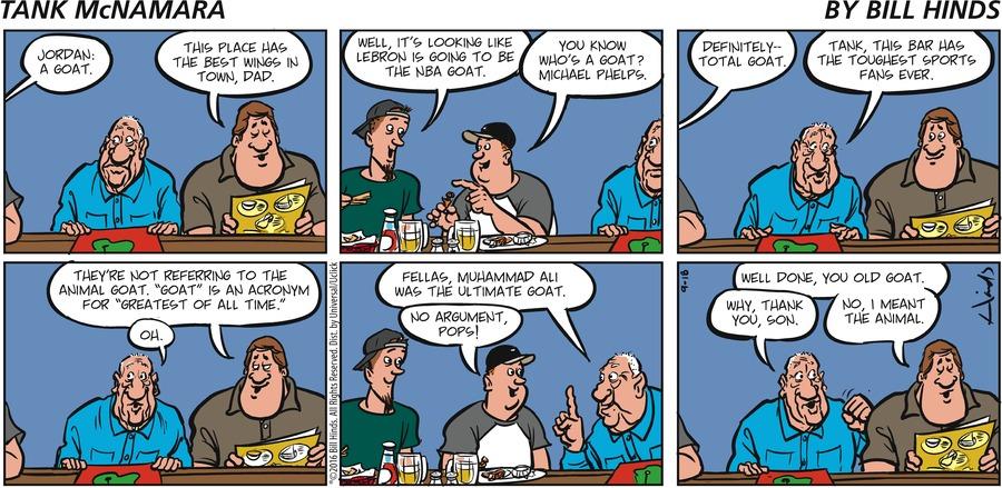 Tank McNamara Comic Strip for September 18, 2016