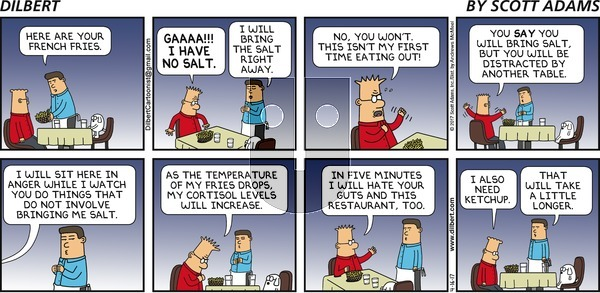 Dilbert on Sunday April 16, 2017 Comic Strip