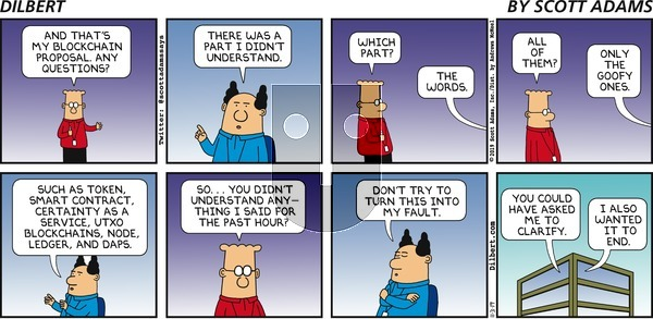 Dilbert on Sunday November 3, 2019 Comic Strip