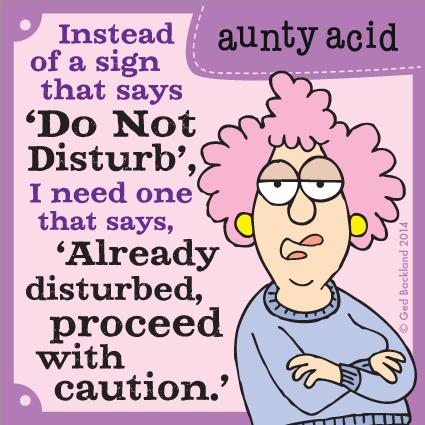 Aunty Acid for Jan 29, 2014 Comic Strip
