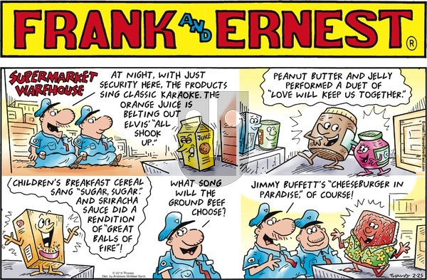 Frank and Ernest on Sunday February 25, 2018 Comic Strip