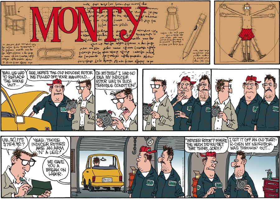 Monty for Jan 12, 2014 Comic Strip