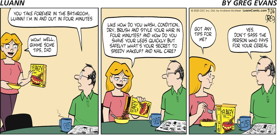Luann Comic Strip for July 26, 2020
