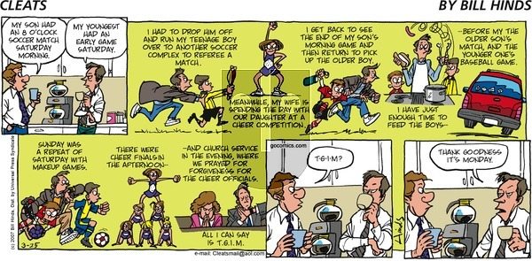 Cleats on Sunday March 25, 2007 Comic Strip