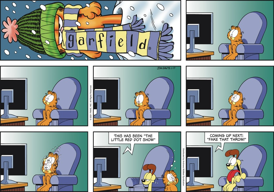 Garfield Comic Strip for January 17, 2021