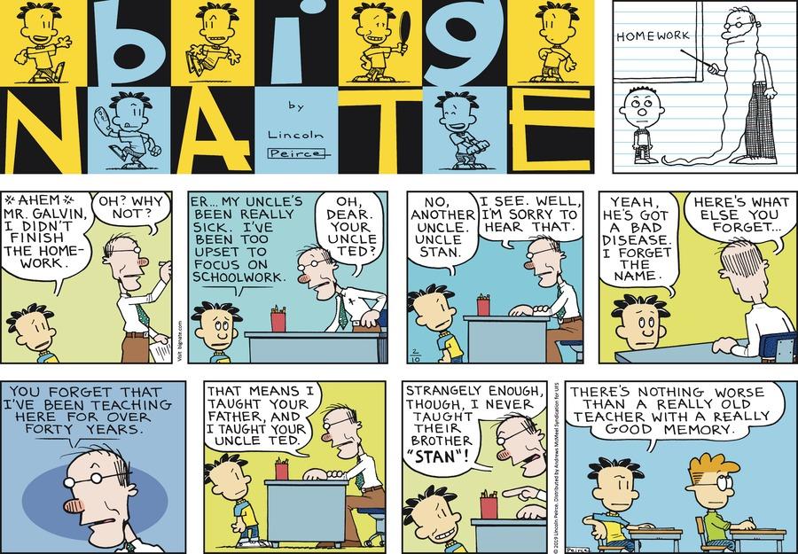 Big Nate Comic Strip for February 10, 2019