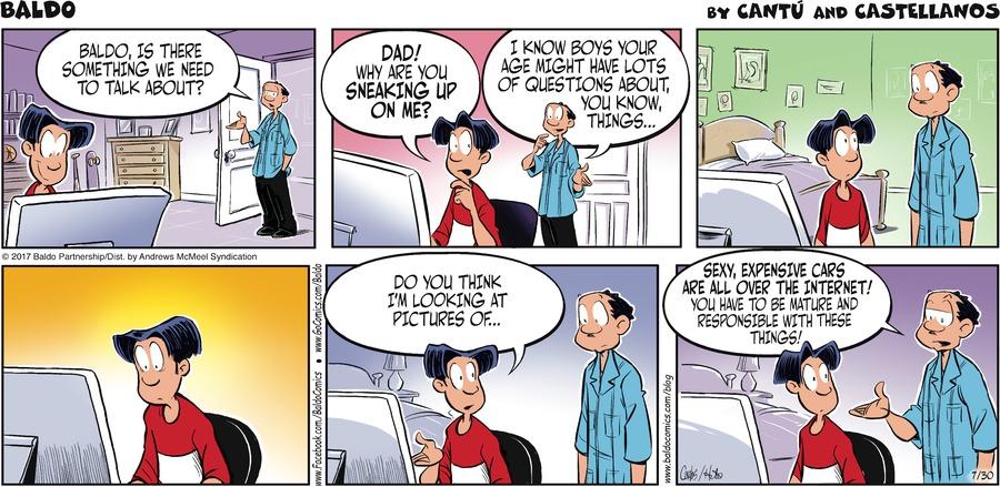 Baldo Comic Strip for July 30, 2017