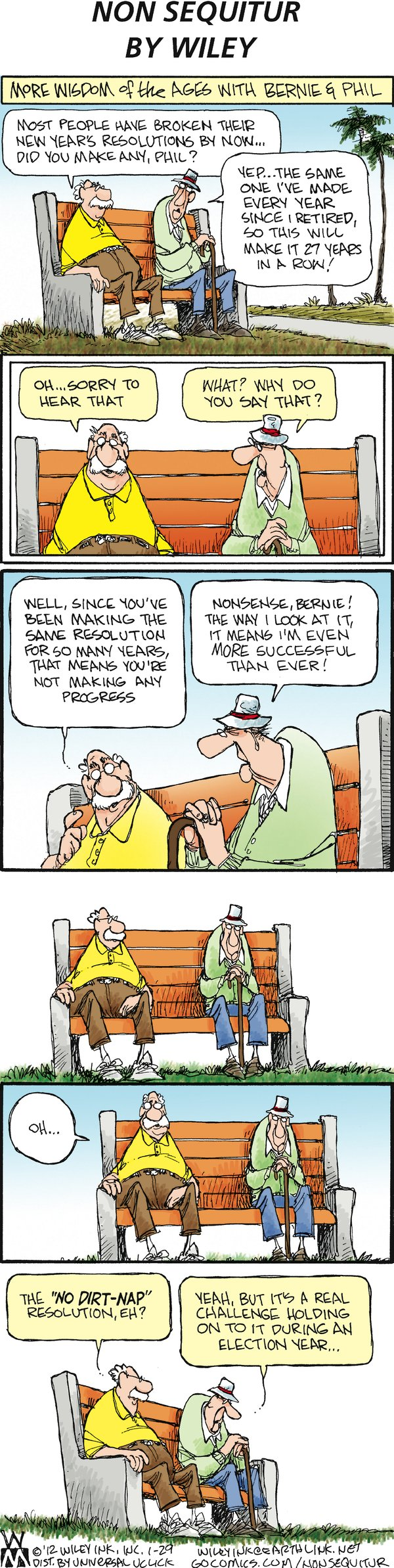 Non Sequitur for Jan 29, 2012 Comic Strip
