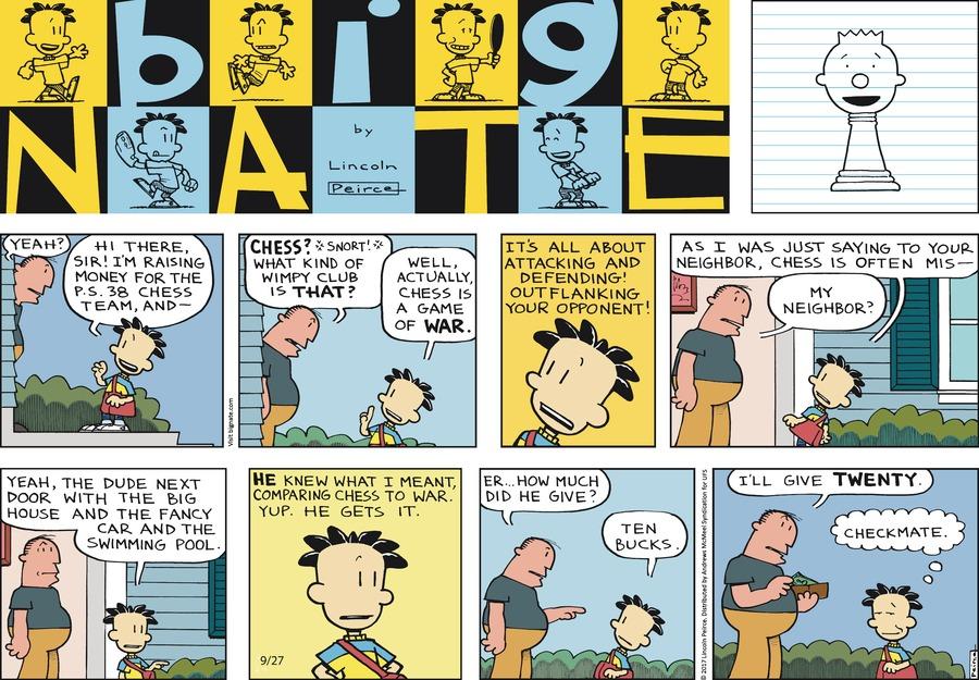 Big Nate Comic Strip for September 27, 2020