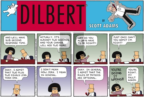 Dilbert on Sunday December 10, 2000 Comic Strip