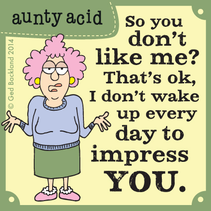 So you don't like me ? That's ok, I don't wake up every day to impress you.