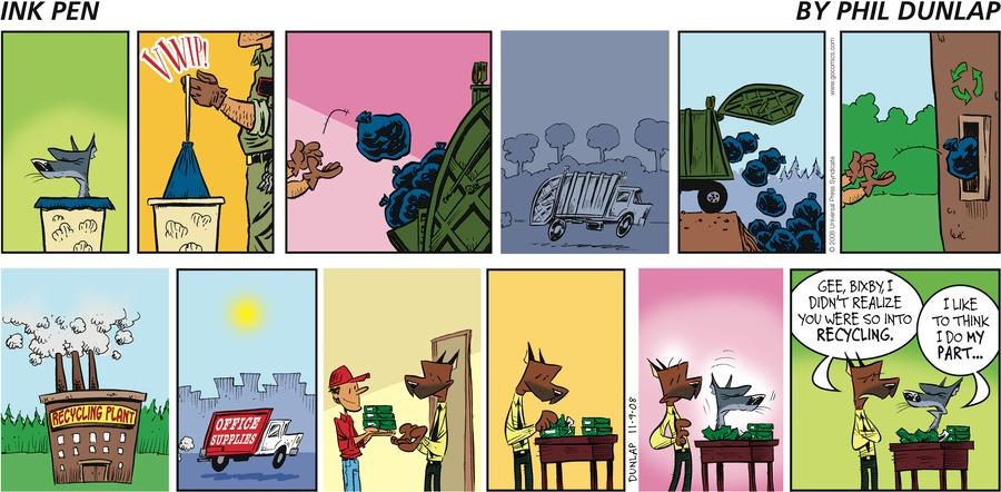 Ink Pen Comic Strip for November 09, 2008