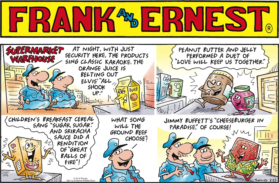 Frank and Ernest Comic Strip for February 25, 2018
