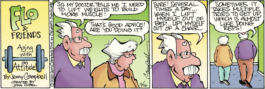 Flo and Friends Comic Strip for February 16, 2020