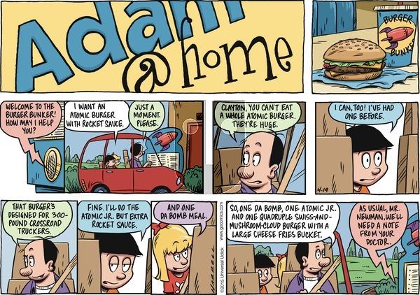 Adam@Home on Sunday April 19, 2015 Comic Strip