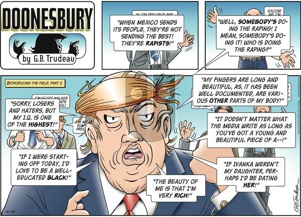 Doonesbury - Sunday October 4, 2015 Comic Strip