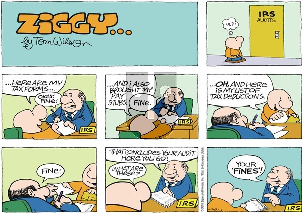 Ziggy on Sunday May 8, 2016 Comic Strip