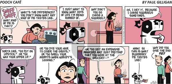 Pooch Cafe on Sunday October 7, 2018 Comic Strip
