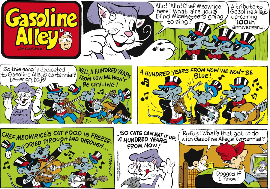 Gasoline Alley Comic Strip for February 25, 2018