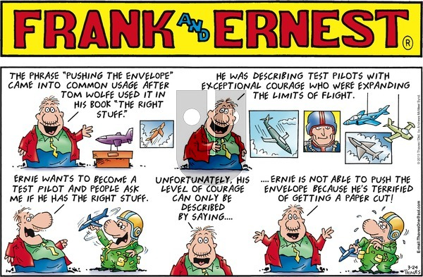 Frank and Ernest on Sunday March 24, 2019 Comic Strip
