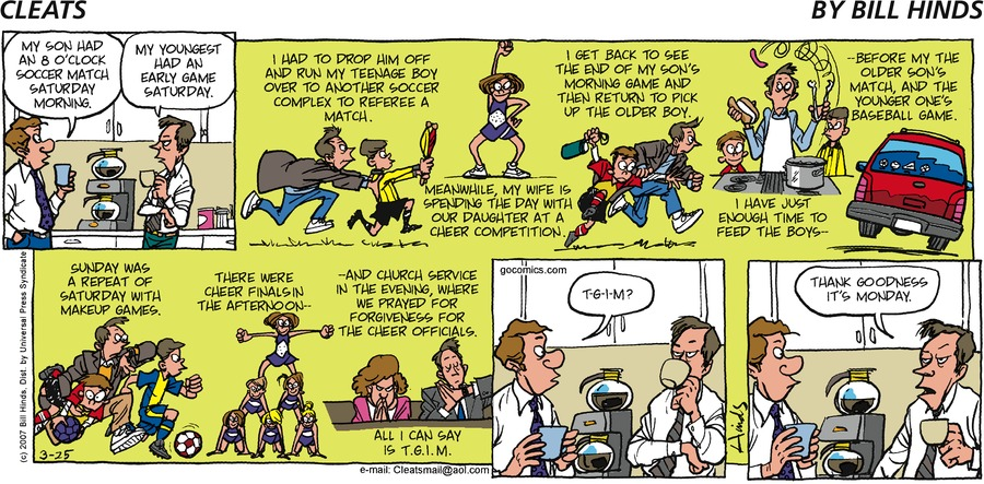 Cleats Comic Strip for March 25, 2007