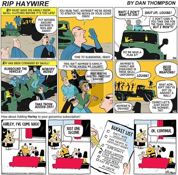 Rip Haywire on Sunday November 15, 2020 Comic Strip