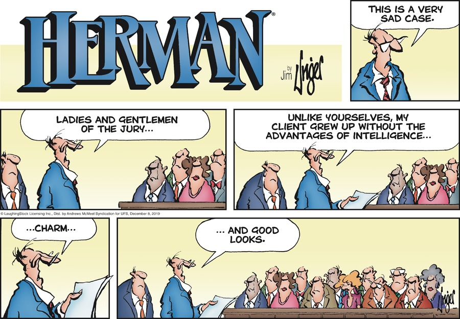 Herman Comic Strip for December 08, 2019