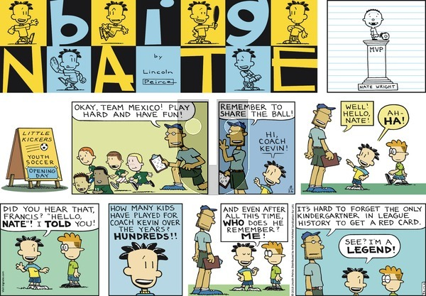 Big Nate on Sunday August 26, 2018 Comic Strip