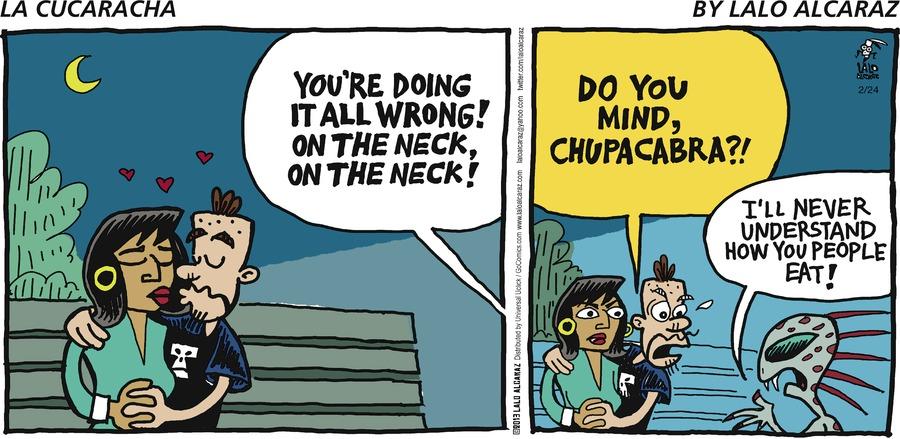 La Cucaracha for Feb 24, 2013 Comic Strip
