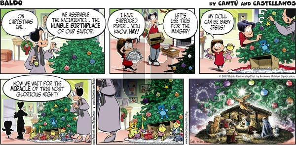 Baldo on Sunday December 24, 2017 Comic Strip