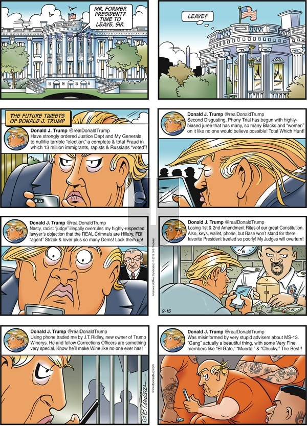 Doonesbury - Sunday September 15, 2019 Comic Strip