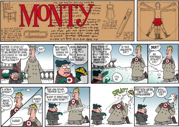 Monty on Sunday January 19, 2014 Comic Strip