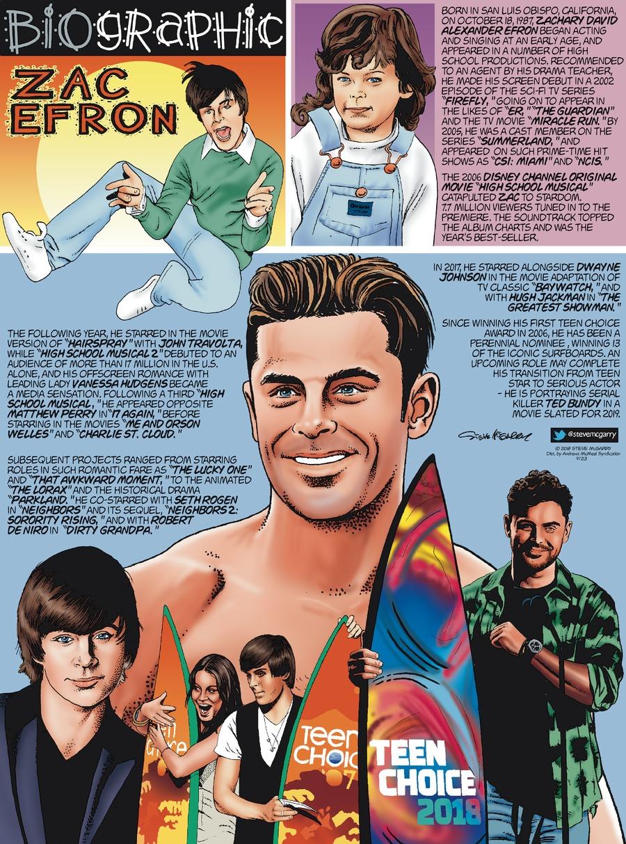 Biographic Comic Strip for September 23, 2018