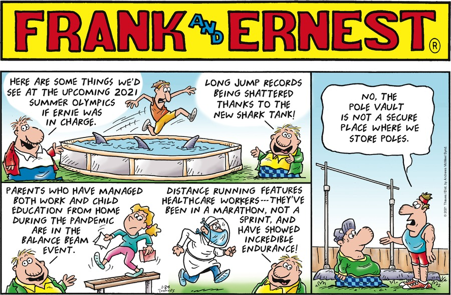 Frank and Ernest Comic Strip for January 24, 2021