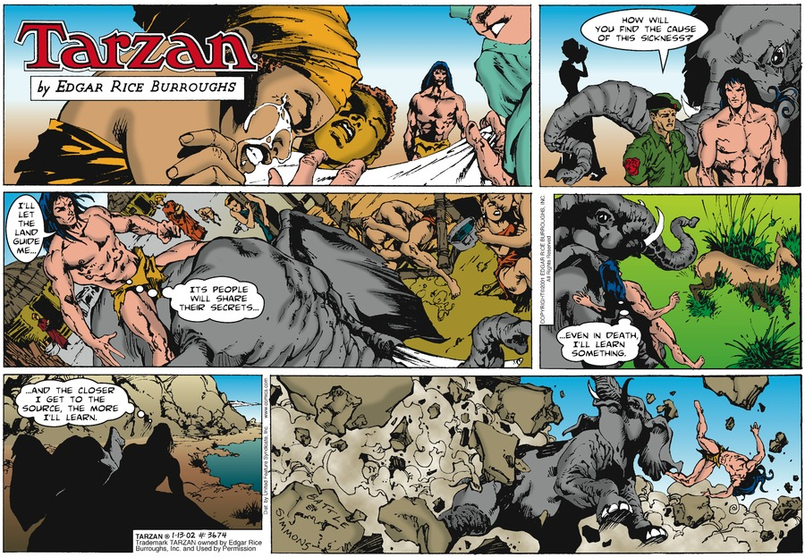 Tarzan Comic Strip for January 13, 2002