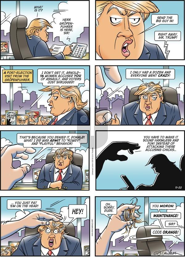 Doonesbury on Sunday November 20, 2016 Comic Strip