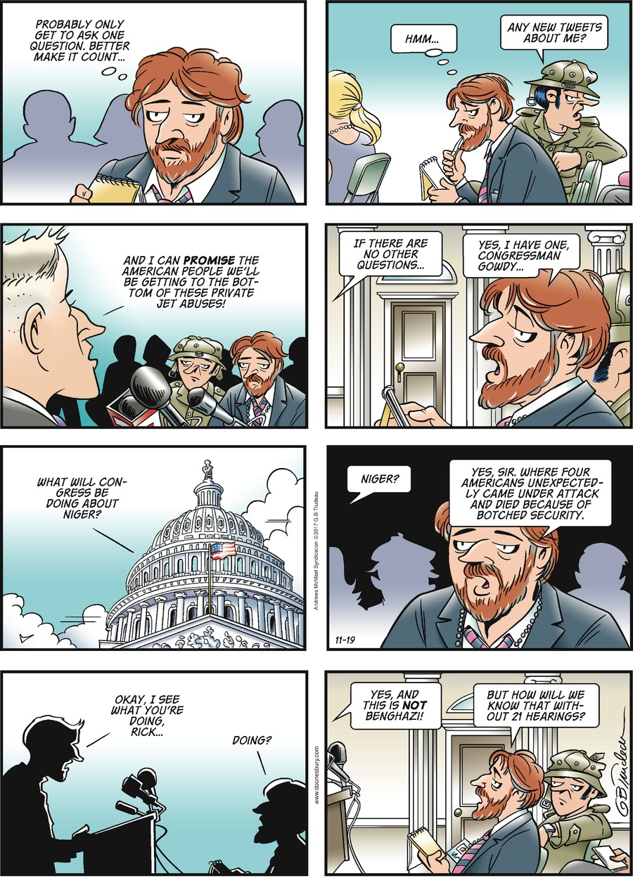 Doonesbury Comic Strip for November 19, 2017