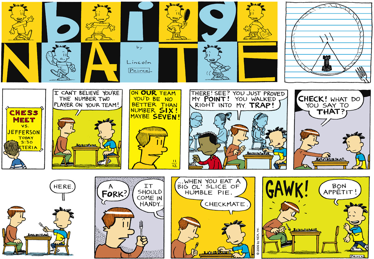 Big Nate Comic Strip for November 12, 2006