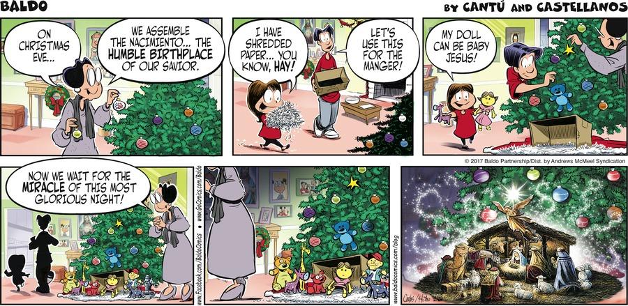 Baldo Comic Strip for December 24, 2017